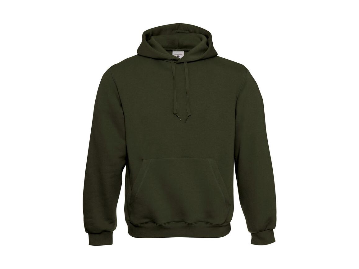 B & C Hooded Sweatshirt, Khaki Green, 2XS bedrucken, Art.-Nr. 276425261