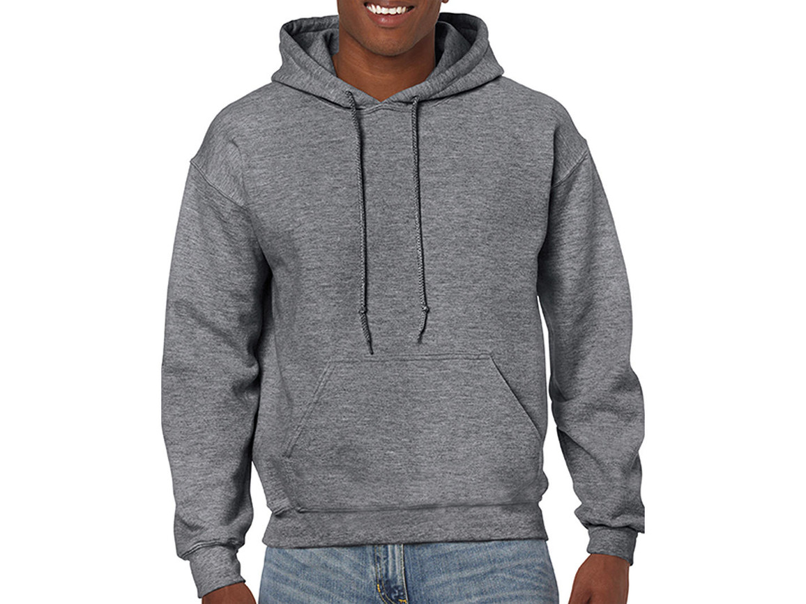 Gildan Heavy Blend™ Hooded Sweat, Graphite Heather, XL bedrucken, Art.-Nr. 290091316