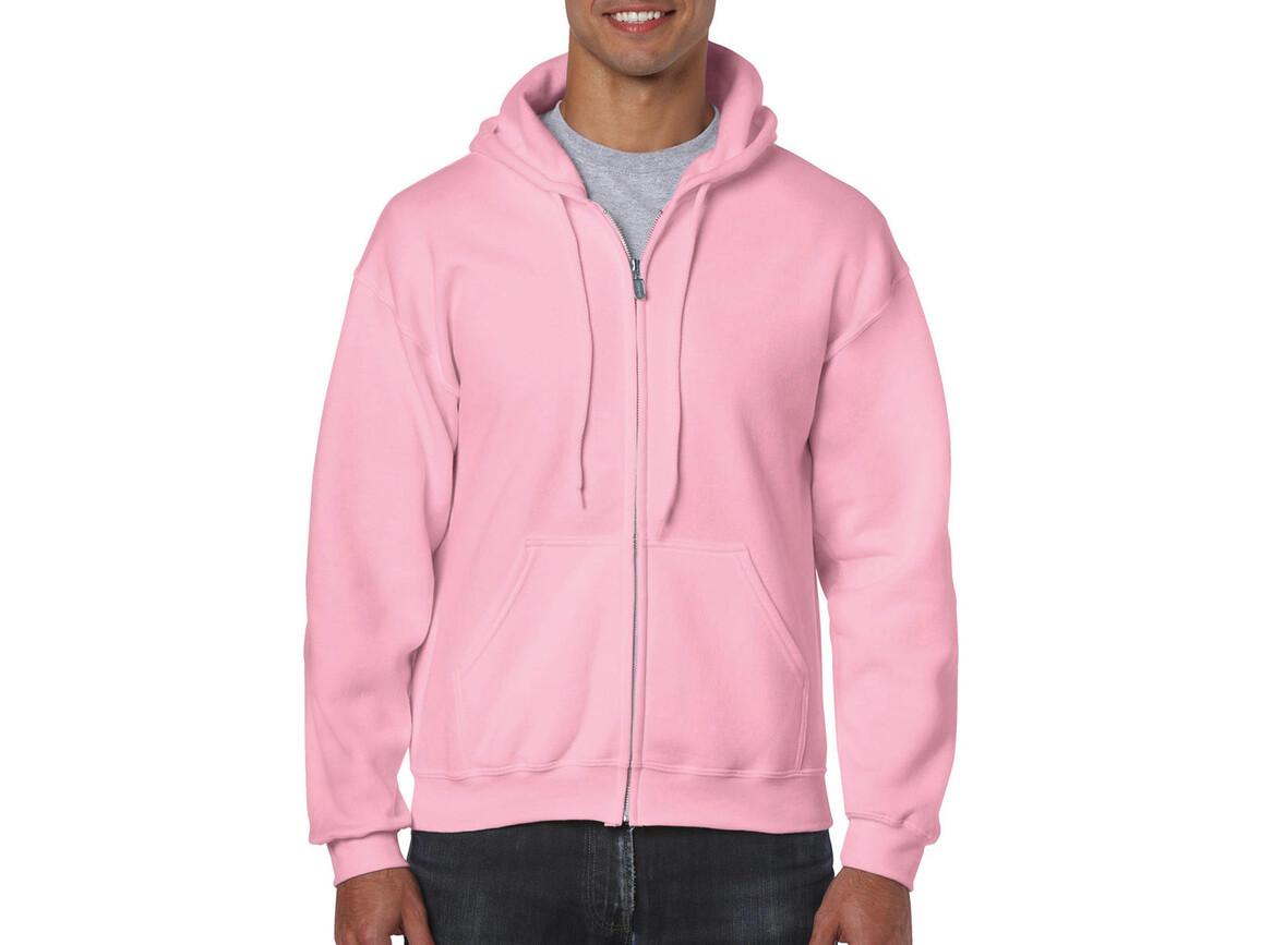 Gildan Heavy Blend Adult Full Zip Hooded Sweat, Light Pink, M bedrucken, Art.-Nr. 293094204