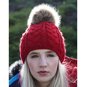 Beechfield Fur Pop Pom Cable Beanie bedrucken, Art.-Nr. 36369