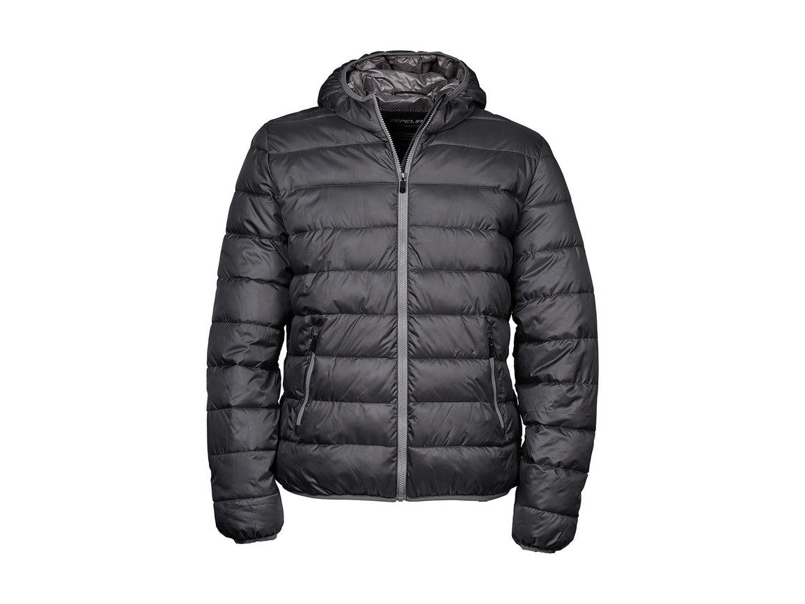 Tee Jays Hooded Zepelin Jacket, Space Grey/Grey, 3XL bedrucken, Art.-Nr. 406541908