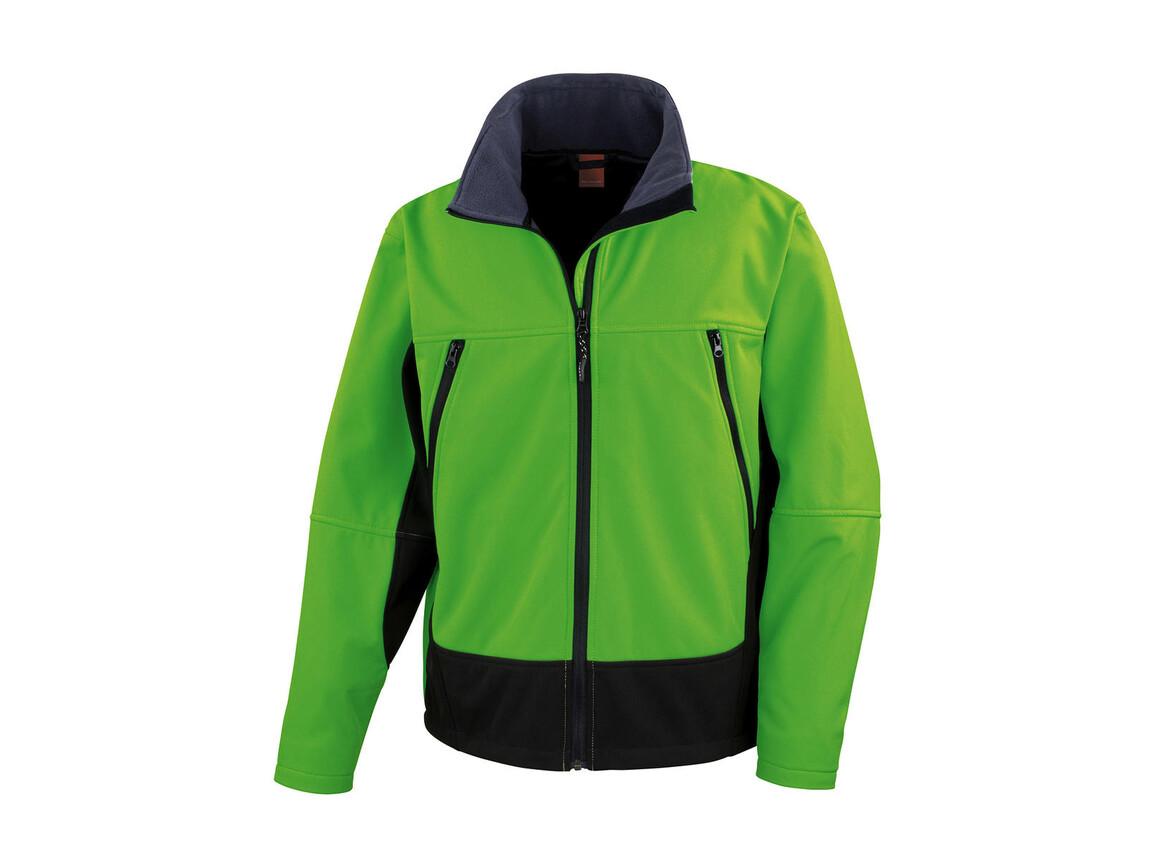 Result Softshell Activity Jacket, Vivid Green/Black, 2XL bedrucken, Art.-Nr. 438335547