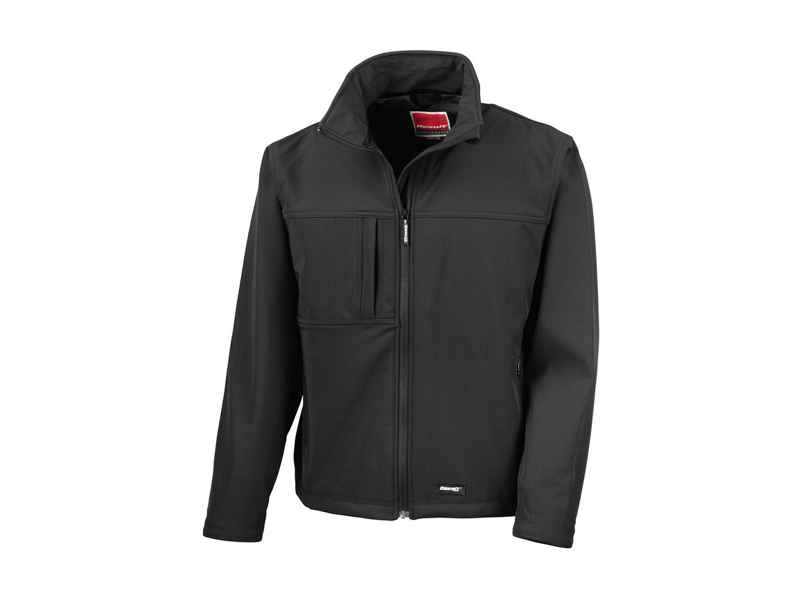 Result Classic Softshell Jacket, Black, L bedrucken, Art.-Nr. 439331015