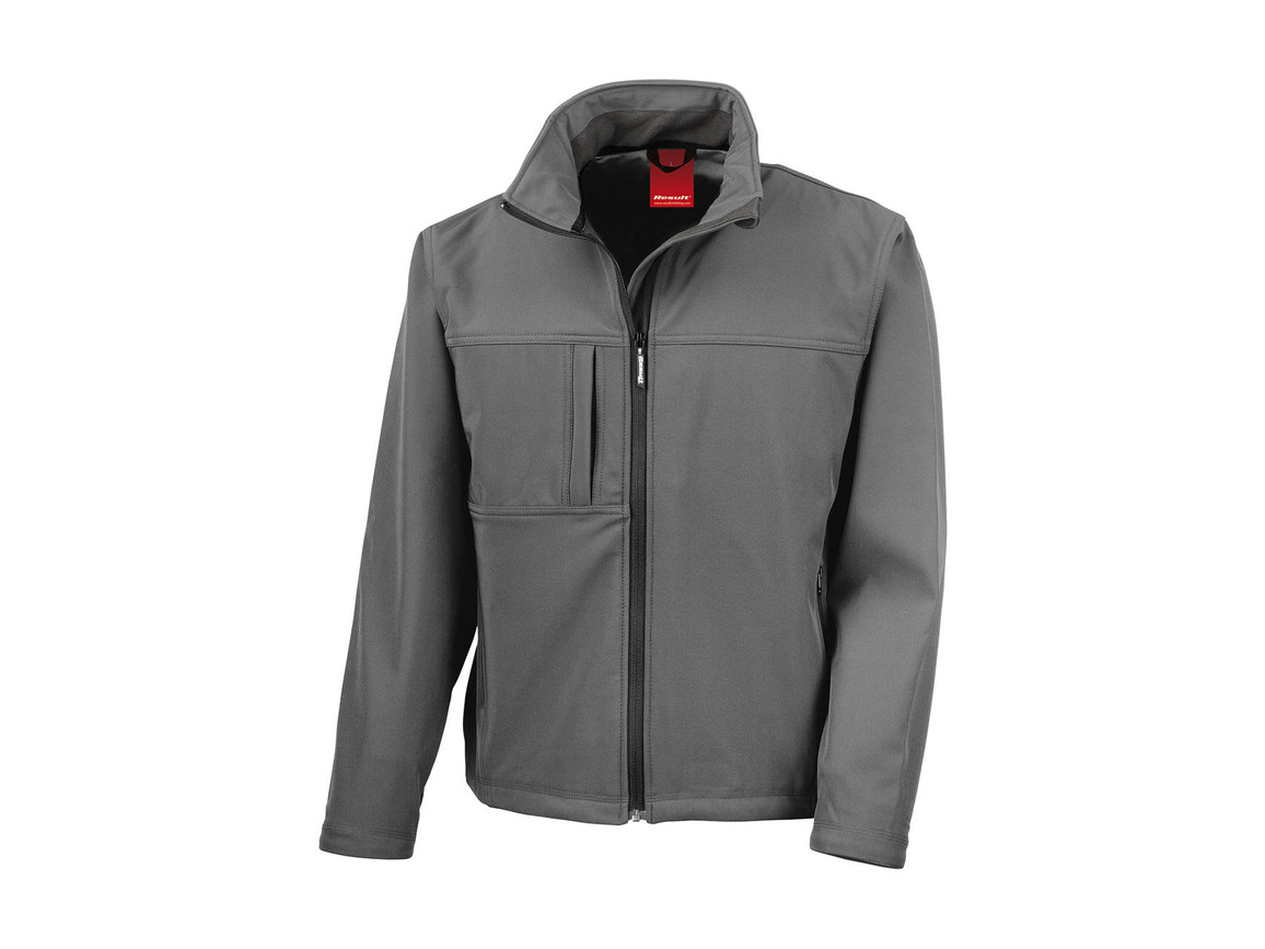 Result Classic Softshell Jacket, Workguard Grey, 4XL bedrucken, Art.-Nr. 439331059