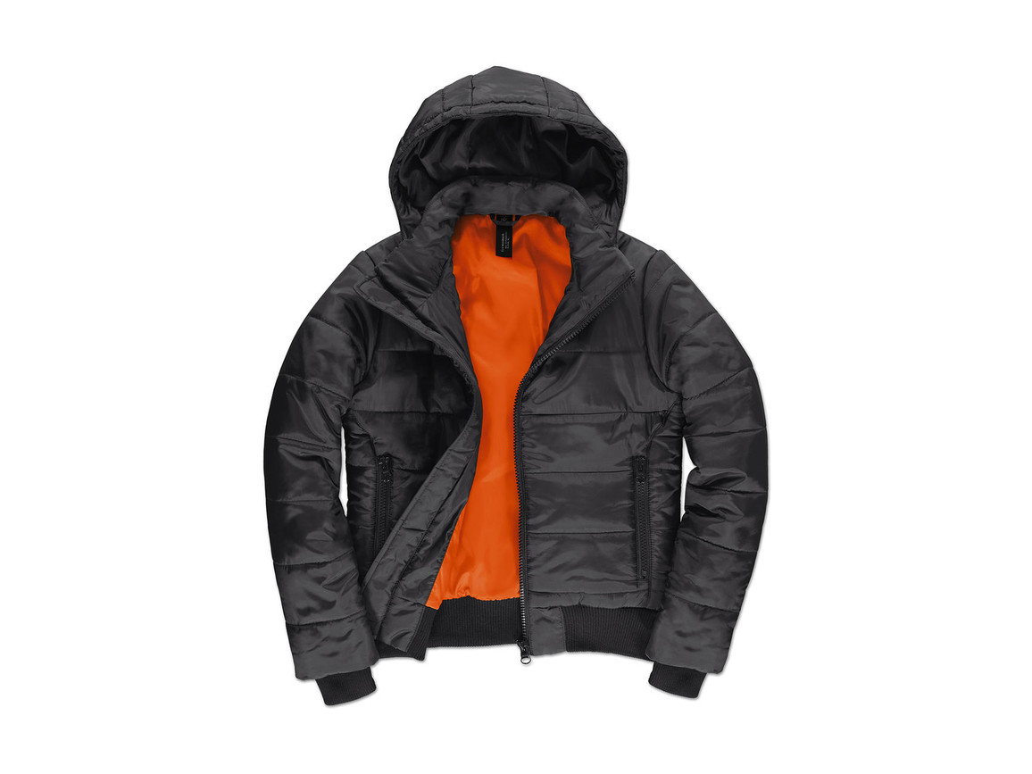 B & C Superhood/women Jacket, Dark Grey/Neon Orange, S bedrucken, Art.-Nr. 439421703