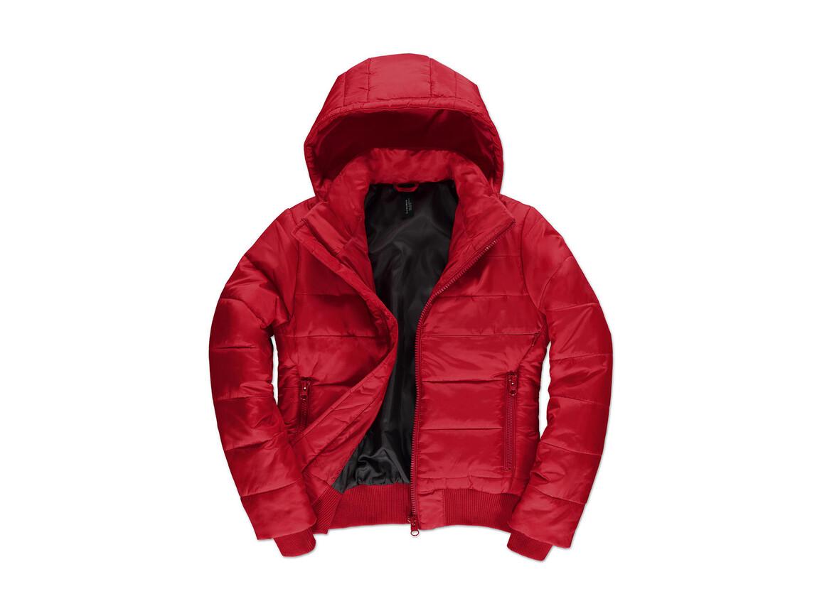 B & C Superhood/women Jacket, Red/Black, L bedrucken, Art.-Nr. 439424515