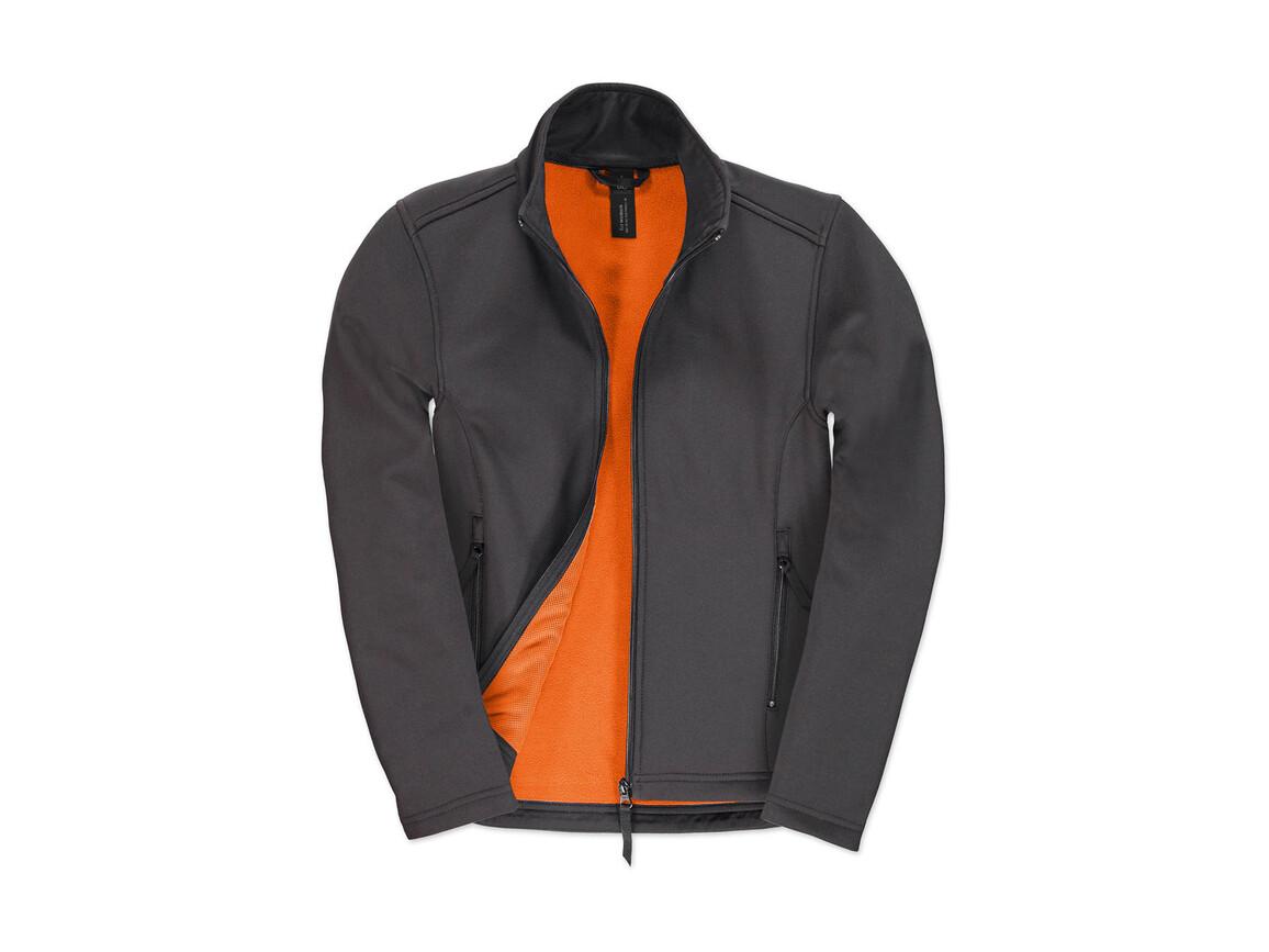 B & C ID.701/women Softshell Jacket, Dark Grey/Neon Orange, XS bedrucken, Art.-Nr. 447421702