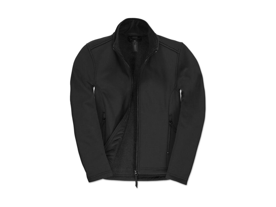 B & C ID.701/women Softshell Jacket, Black/Black, 2XL bedrucken, Art.-Nr. 447421777