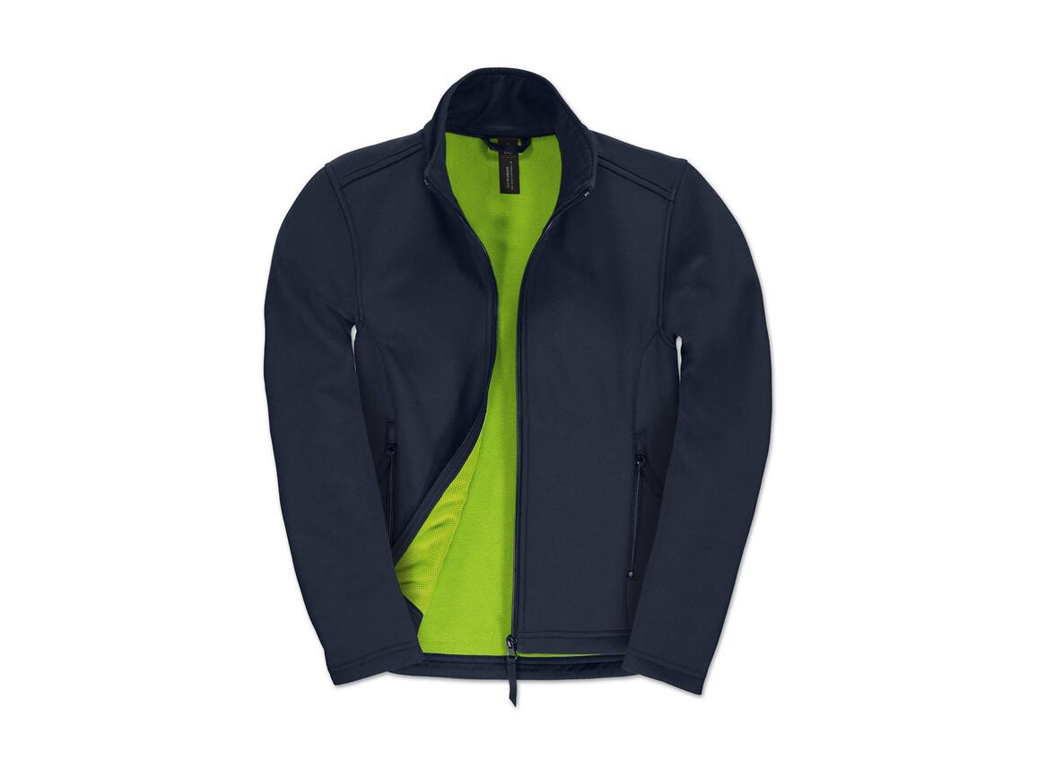 B & C ID.701/women Softshell Jacket, Navy/Neon Green, L bedrucken, Art.-Nr. 447422705