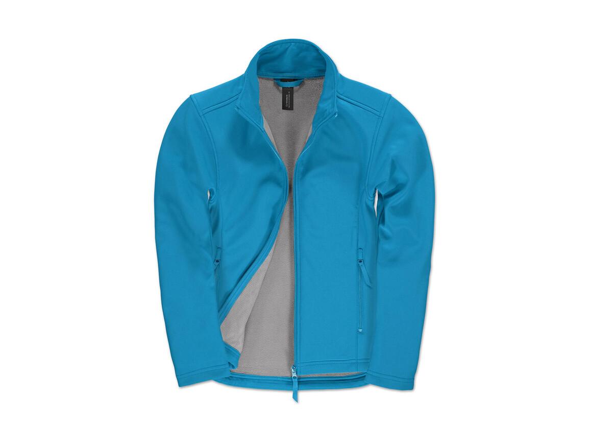 B & C ID.701/women Softshell Jacket, Atoll/Attitude Grey, XL bedrucken, Art.-Nr. 447423696