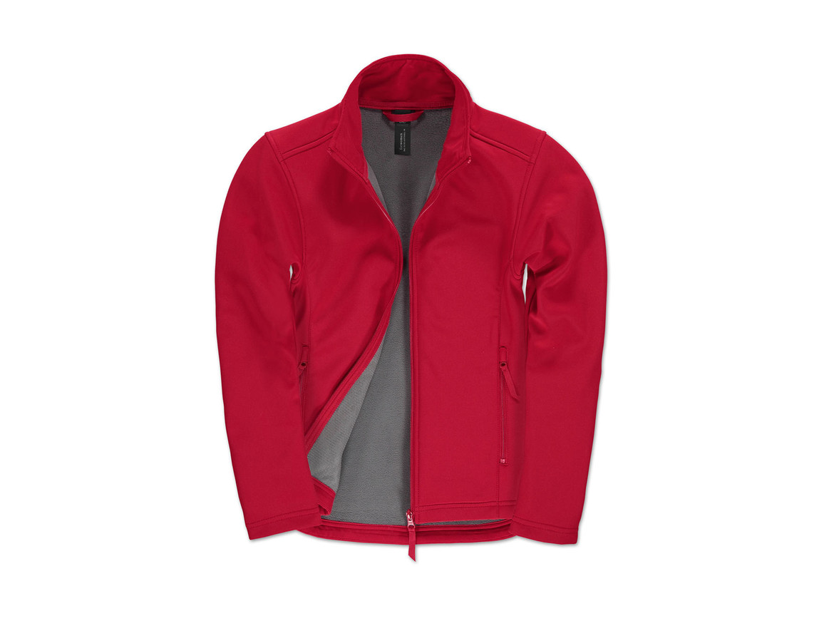 B & C ID.701/women Softshell Jacket, Red/Warm Grey, S bedrucken, Art.-Nr. 447424703