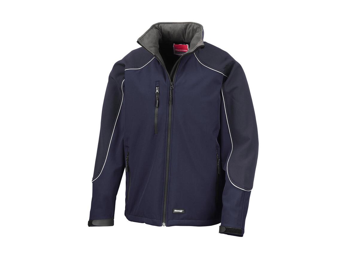 Result Ice Fell Hooded Softshell Jacket, Navy/Navy, XS bedrucken, Art.-Nr. 448332482