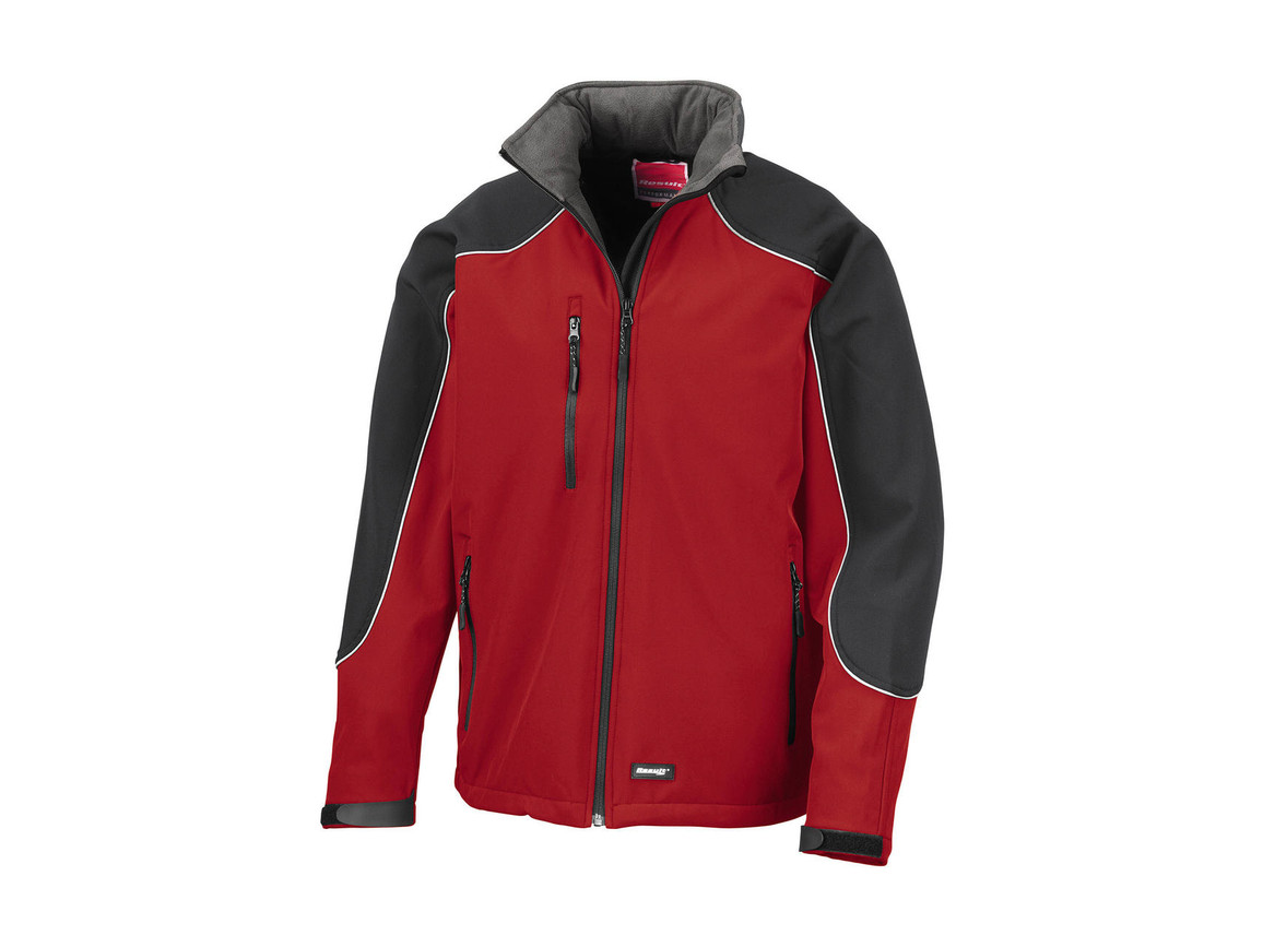 Result Ice Fell Hooded Softshell Jacket, Red/Black, 3XL bedrucken, Art.-Nr. 448334518