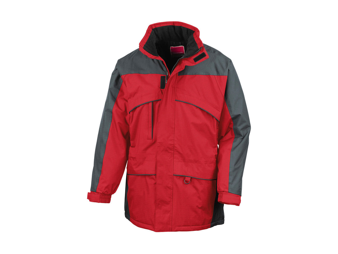 Result Seneca Hi-Activity Jacket, Red/Anthracite, 2XL bedrucken, Art.-Nr. 450334547