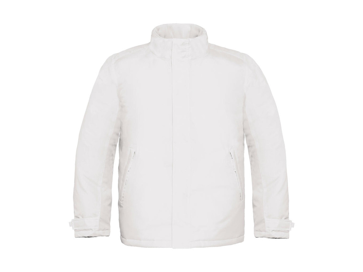 B & C Real+/men Heavy Weight Jacket, White, M bedrucken, Art.-Nr. 452420004
