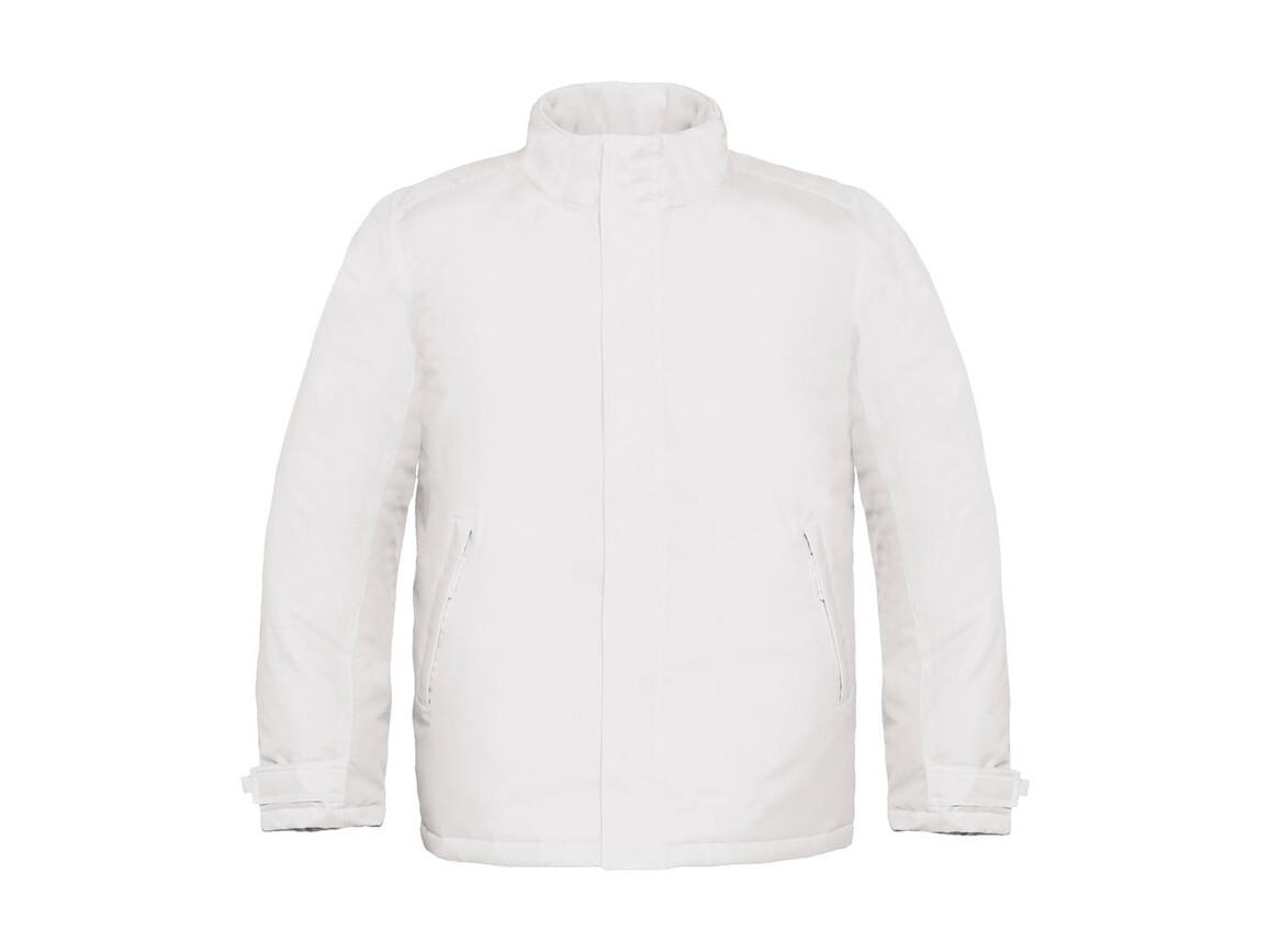 B & C Real+/men Heavy Weight Jacket, White, S bedrucken, Art.-Nr. 452420003