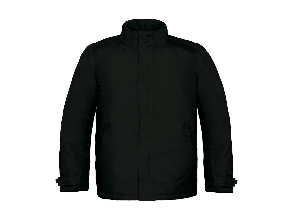 B & C Real+/men Heavy Weight Jacket, Black, 2XL bedrucken, Art.-Nr. 452421017