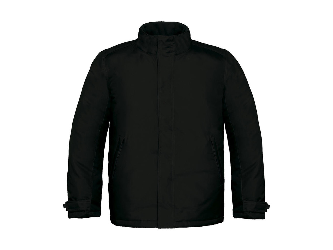 B & C Real+/men Heavy Weight Jacket, Black, L bedrucken, Art.-Nr. 452421015
