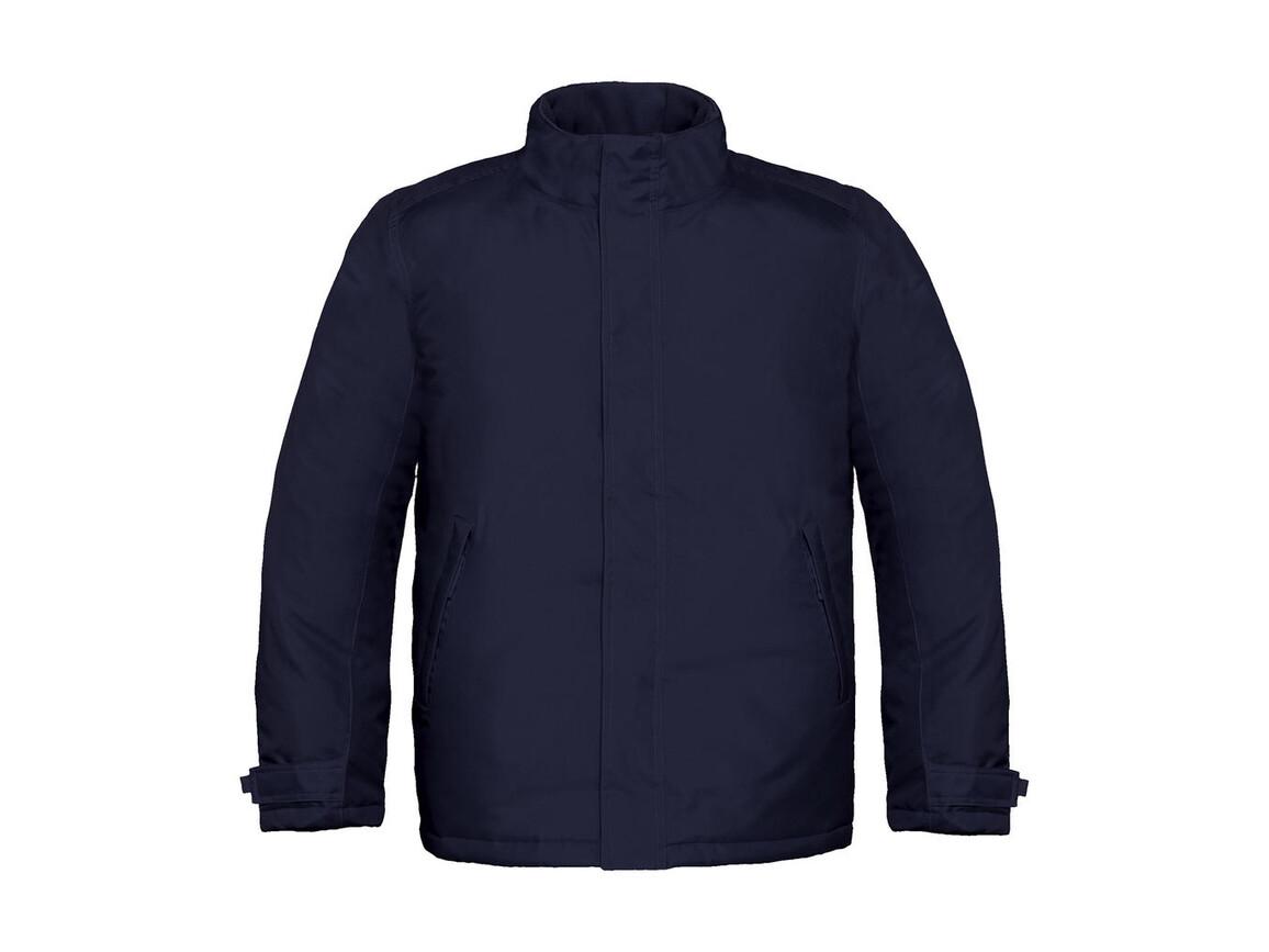 B & C Real+/men Heavy Weight Jacket, Navy, L bedrucken, Art.-Nr. 452422005