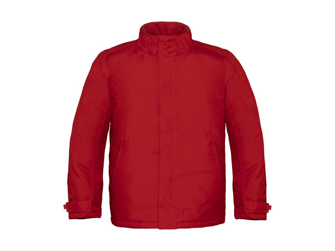 B & C Real+/men Heavy Weight Jacket, Deep Red, 2XL bedrucken, Art.-Nr. 452424067