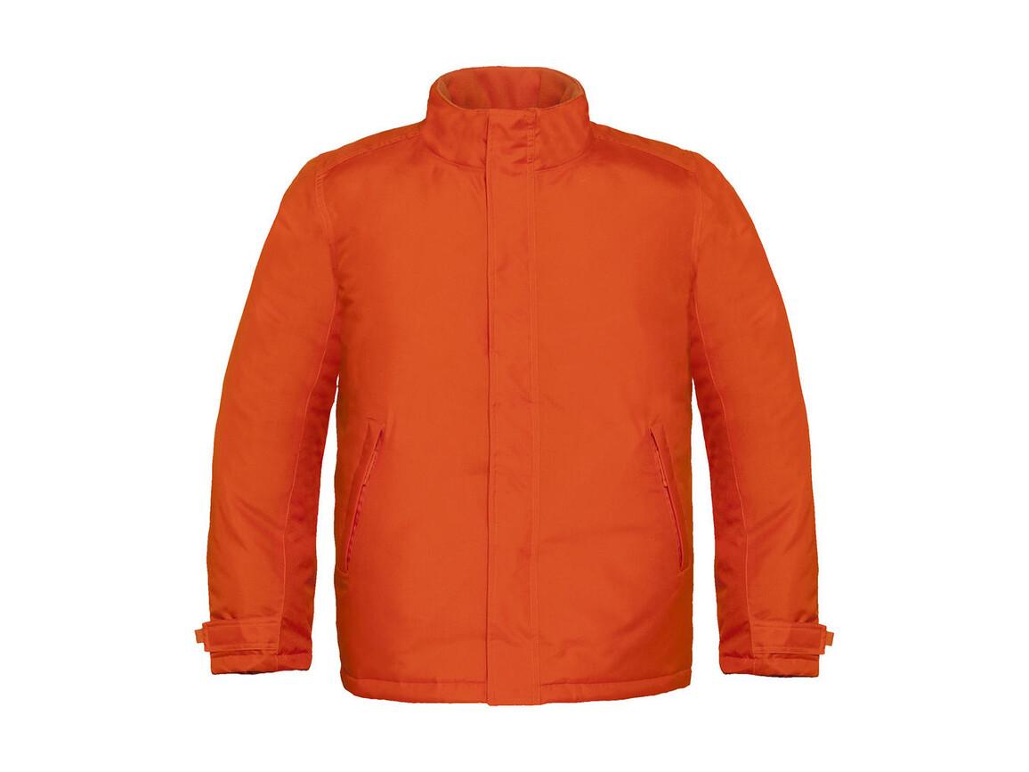B & C Real+/men Heavy Weight Jacket, Orange, M bedrucken, Art.-Nr. 452424104