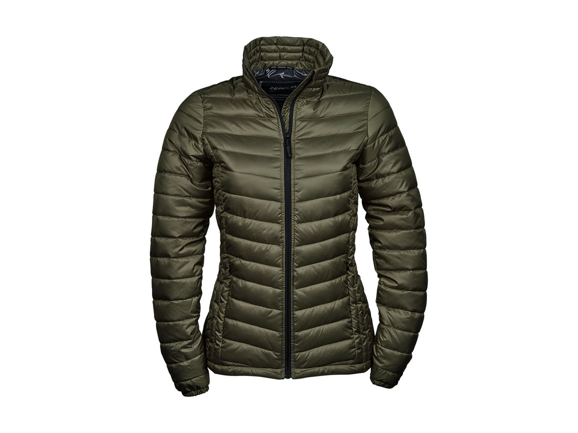 Tee Jays Ladies` Zepelin Jacket, Olive, XL bedrucken, Art.-Nr. 454545306