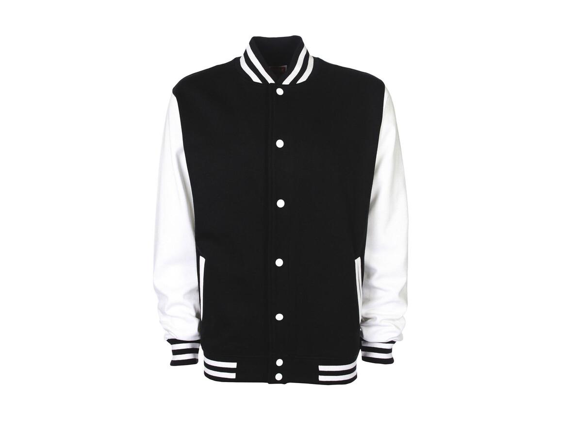 FDM Varsity Jacket, Black/White, 2XL bedrucken, Art.-Nr. 455551507