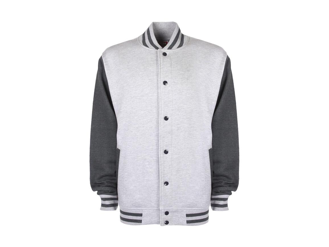 FDM Varsity Jacket, Sport Grey/Charcoal, XL bedrucken, Art.-Nr. 455551706