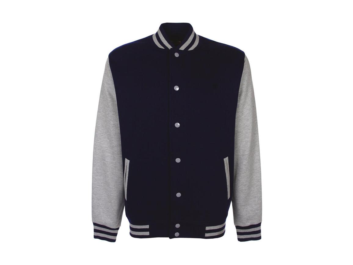 FDM Varsity Jacket, Navy/Sport Grey, 2XL bedrucken, Art.-Nr. 455552747