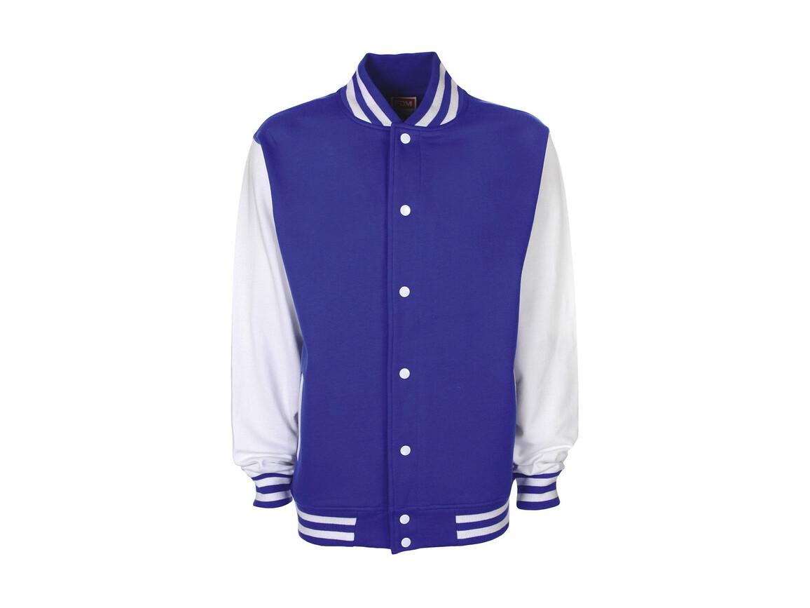 FDM Varsity Jacket, Royal/White, 2XL bedrucken, Art.-Nr. 455553537
