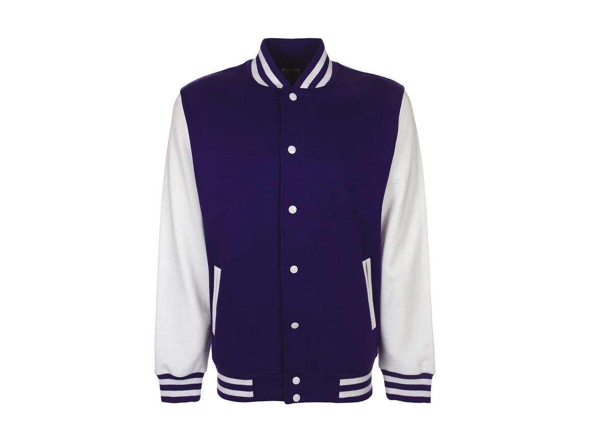 FDM Varsity Jacket, Purple/White, L bedrucken, Art.-Nr. 455553745
