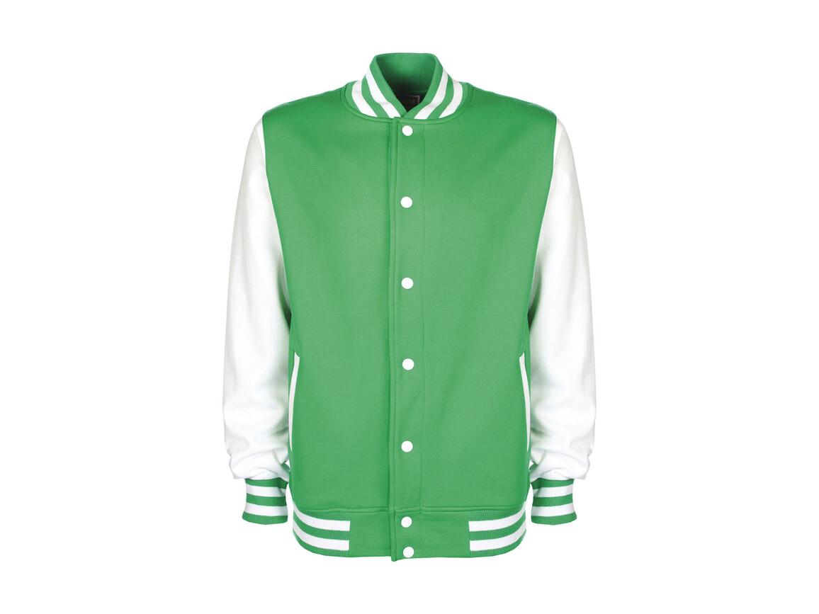 FDM Varsity Jacket, Kelly Green/White, M bedrucken, Art.-Nr. 455555504