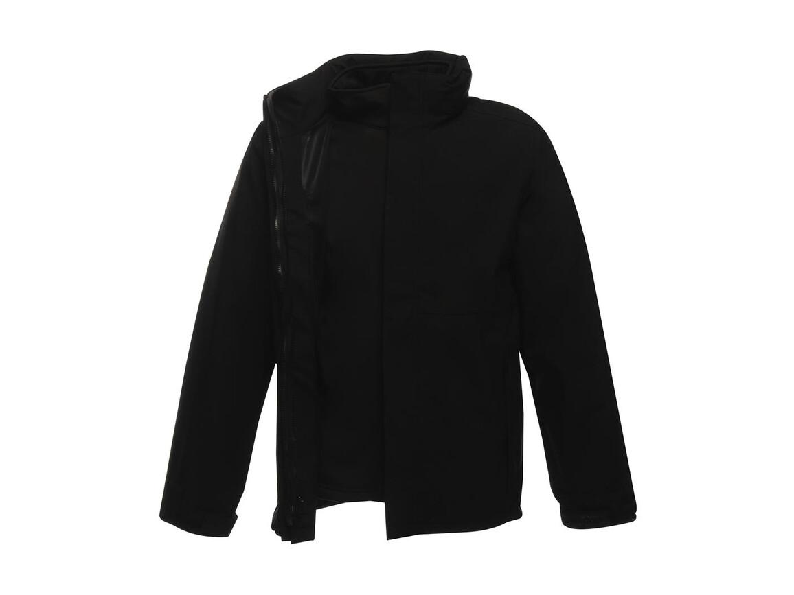 Regatta Kingsley 3-in-1 Jacket, Black/Black, 2XL bedrucken, Art.-Nr. 456171527