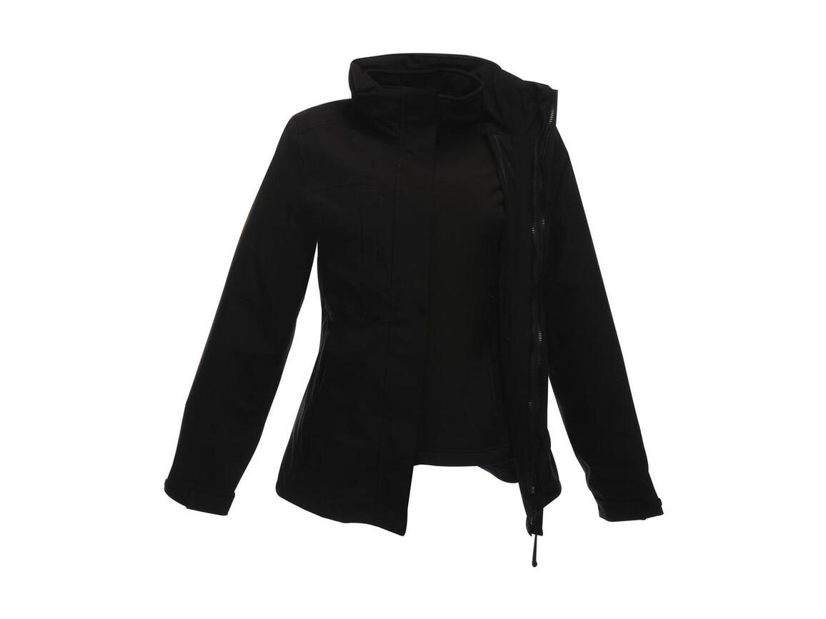 Regatta Women`s Kingsley 3-in-1 Jacket, Black/Black, 10 (36) bedrucken, Art.-Nr. 457171523