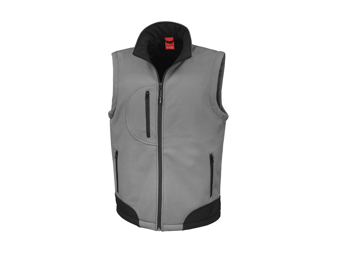 Result Softshell Bodywarmer, Workguard Grey/Black, 2XL bedrucken, Art.-Nr. 459331107