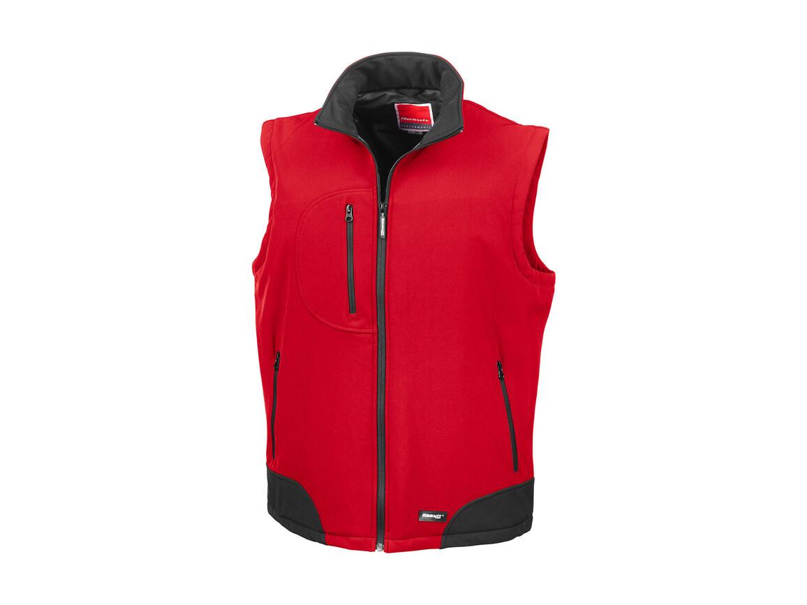 Result Softshell Bodywarmer, Red/Black, S bedrucken, Art.-Nr. 459334513