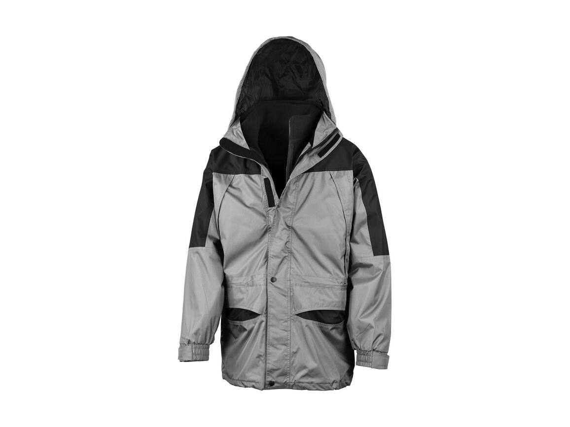 Result Alaska 3-in-1 Jacket, Grey/Black, M bedrucken, Art.-Nr. 460331484