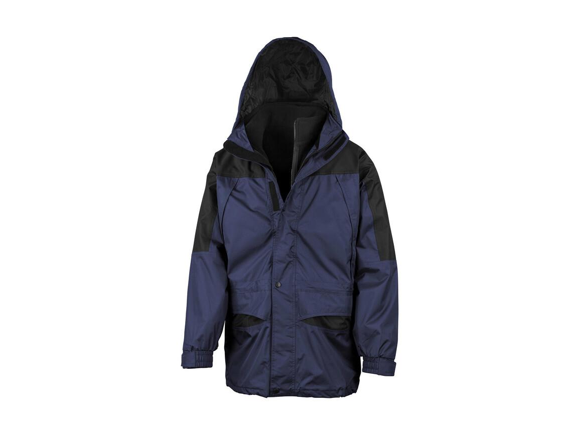 Result Alaska 3-in-1 Jacket, Navy/Black, 2XL bedrucken, Art.-Nr. 460332407