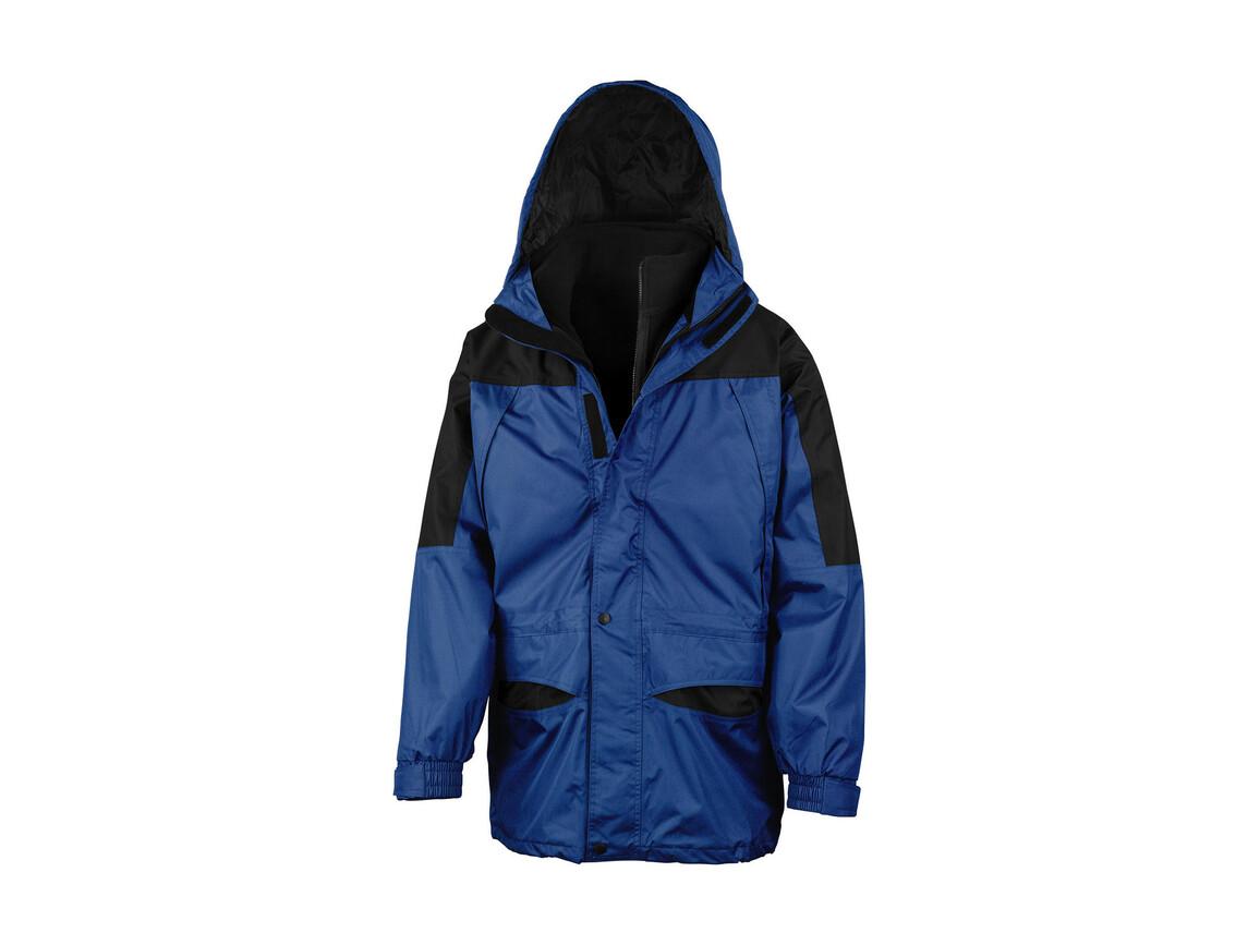 Result Alaska 3-in-1 Jacket, Royal/Black, 3XL bedrucken, Art.-Nr. 460333548
