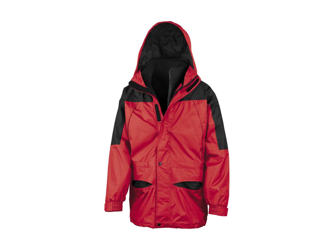 Result Alaska 3-in-1 Jacket, Red/Black, L bedrucken, Art.-Nr. 460334515