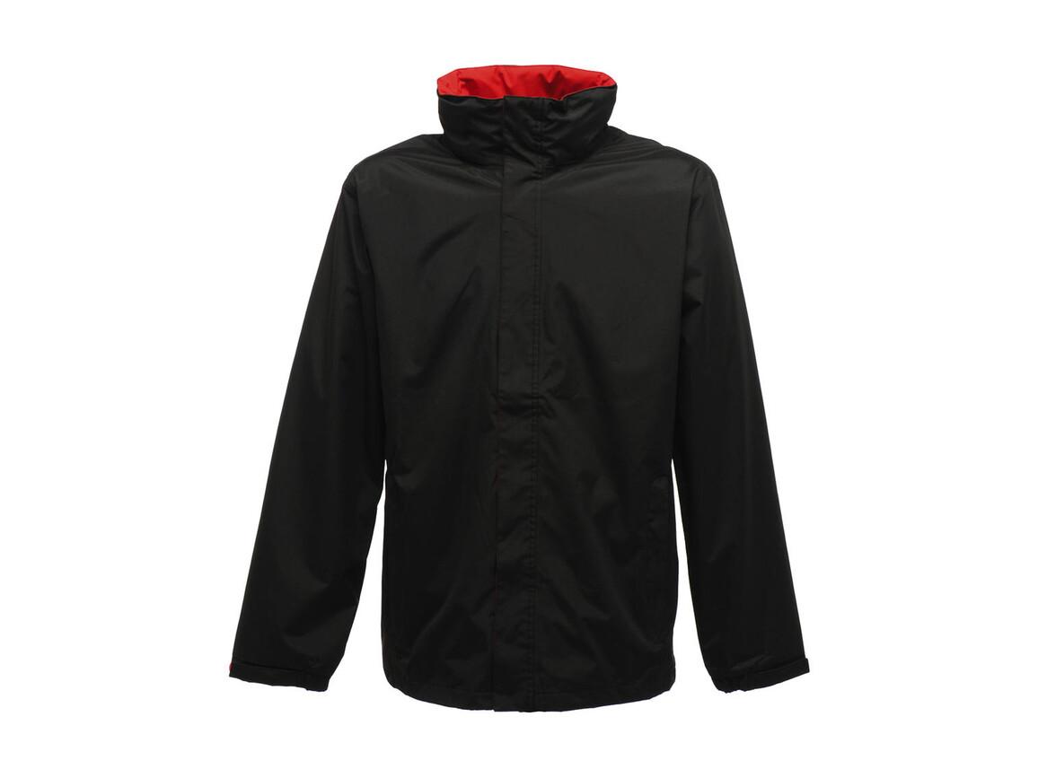Regatta Ardmore Jacket, Black/Classic Red, XS bedrucken, Art.-Nr. 461171572