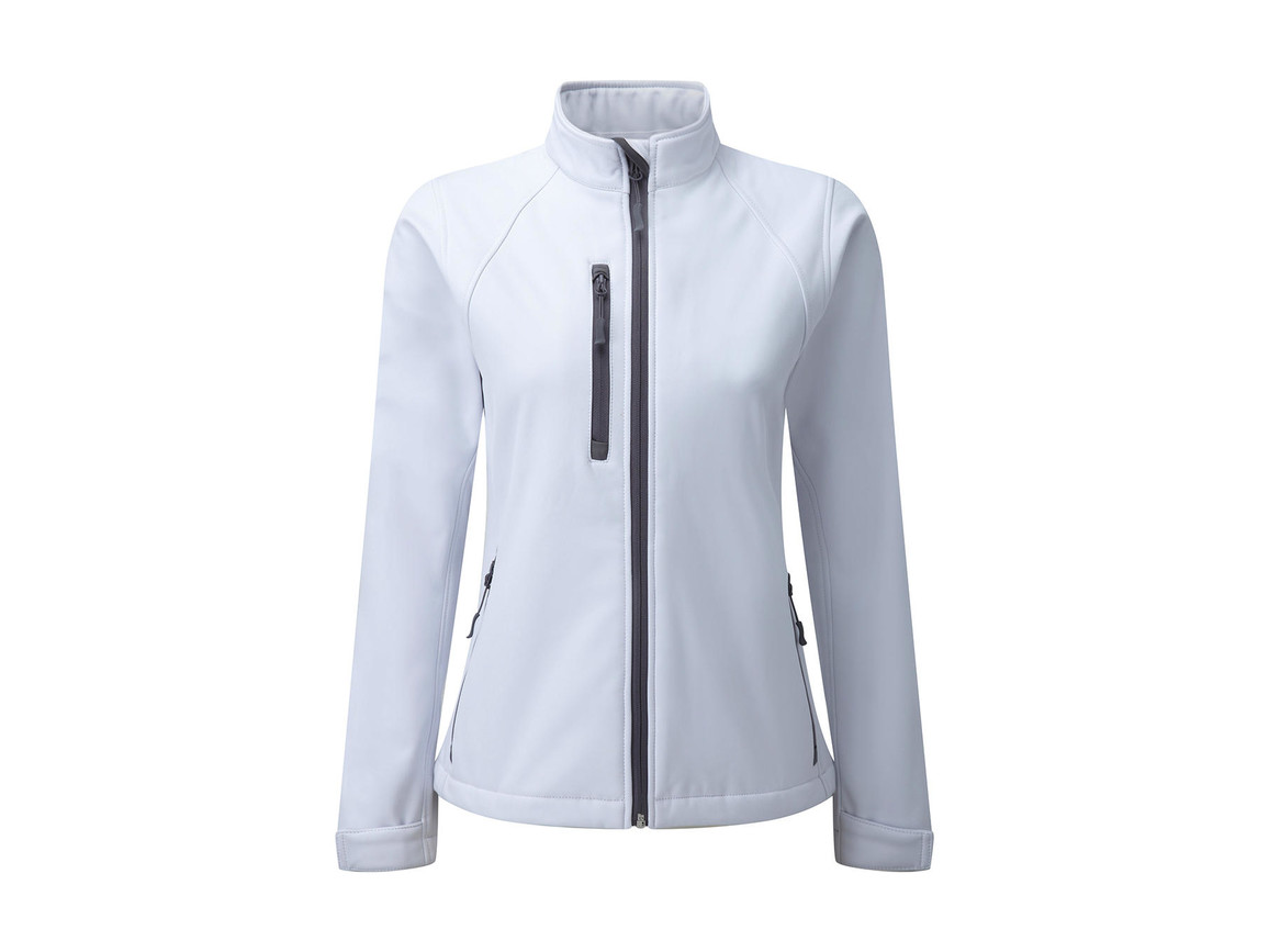 Russell Europe Ladies` Softshell Jacket, White, 2XL (44) bedrucken, Art.-Nr. 462000007