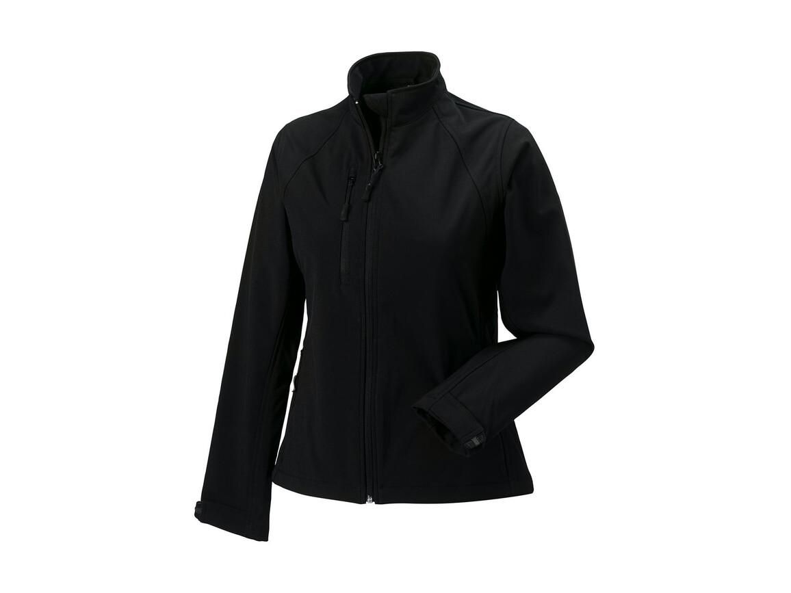 Russell Europe Ladies` Softshell Jacket, Black, 2XL (44) bedrucken, Art.-Nr. 462001017