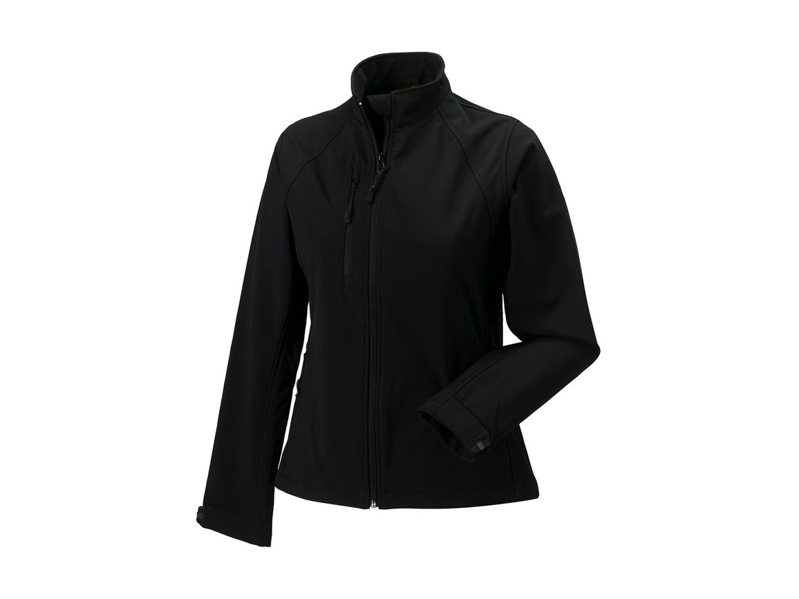 Russell Europe Ladies` Softshell Jacket, Black, XS (34) bedrucken, Art.-Nr. 462001012