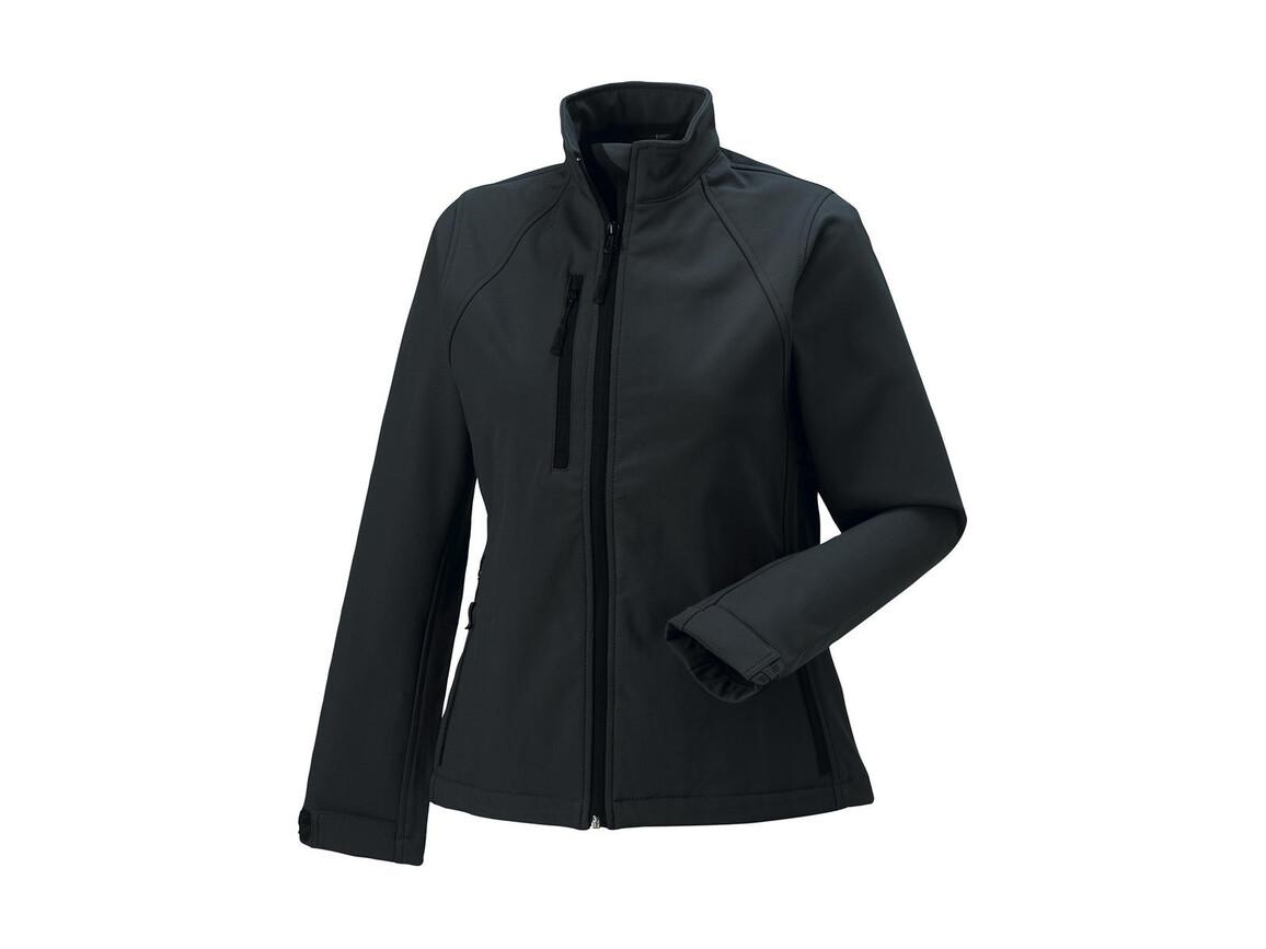 Russell Europe Ladies` Softshell Jacket, Titanium, S (36) bedrucken, Art.-Nr. 462001393