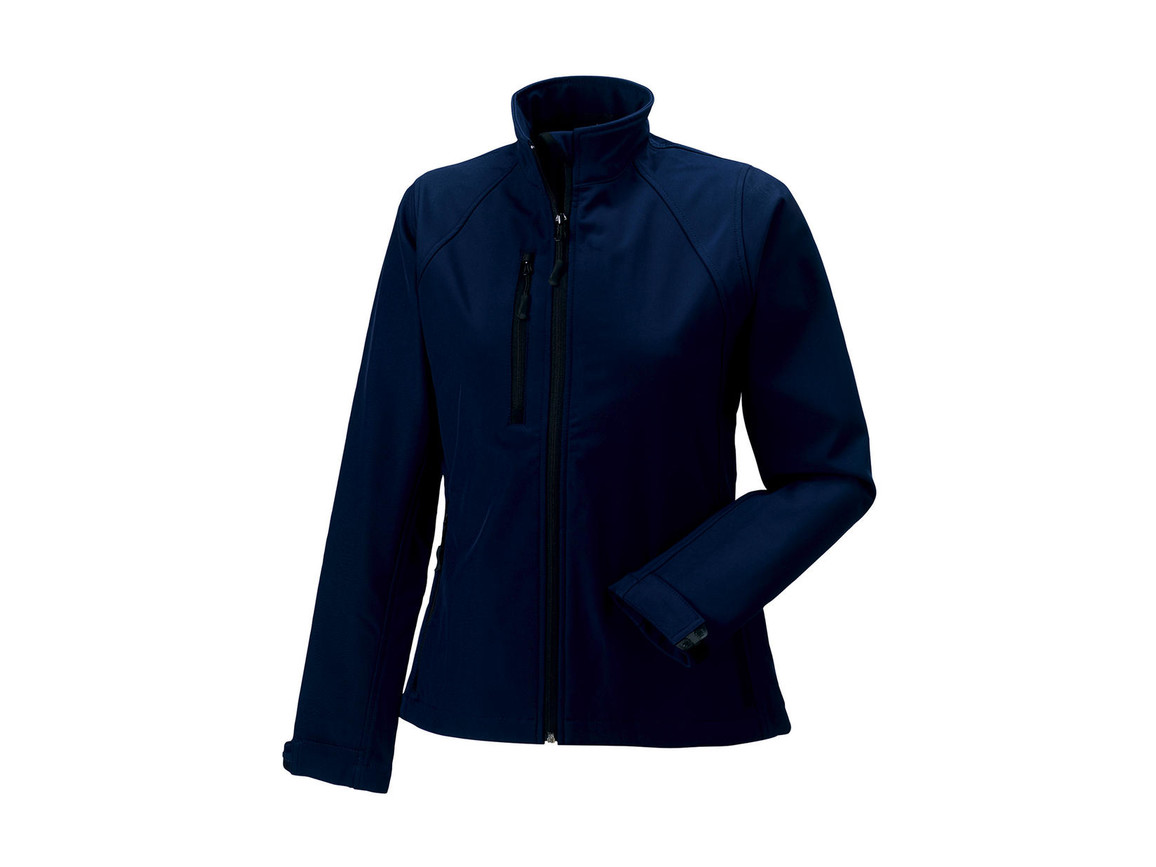 Russell Europe Ladies` Softshell Jacket, French Navy, 4XL (48) bedrucken, Art.-Nr. 462002019