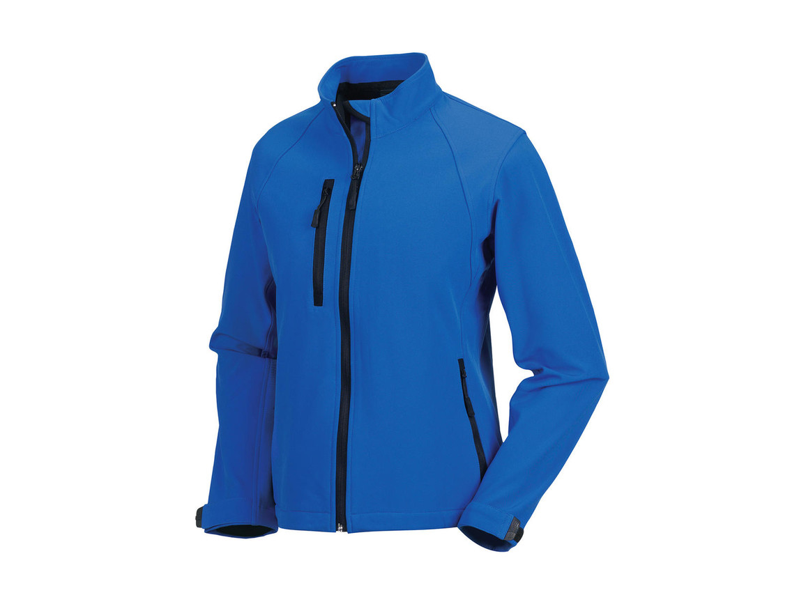 Russell Europe Ladies` Softshell Jacket, Azure, XS (34) bedrucken, Art.-Nr. 462003162