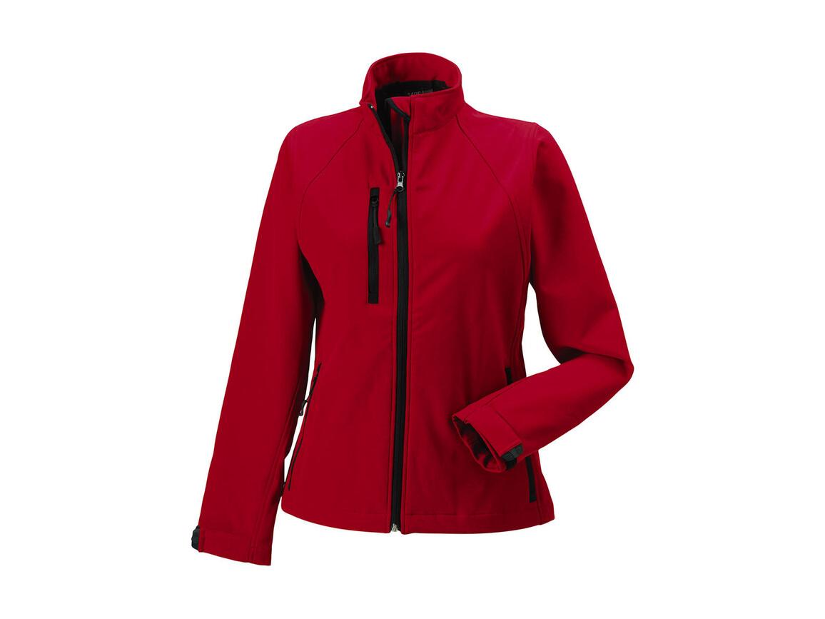 Russell Europe Ladies` Softshell Jacket, Classic Red, XS (34) bedrucken, Art.-Nr. 462004012