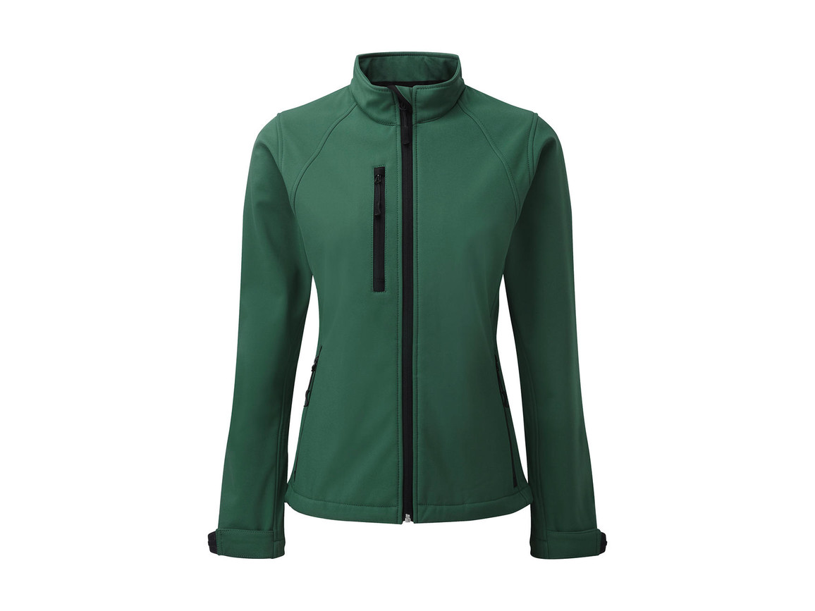 Russell Europe Ladies` Softshell Jacket, Bottle Green, 4XL (48) bedrucken, Art.-Nr. 462005409