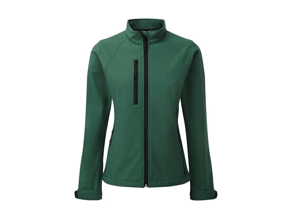 Russell Europe Ladies` Softshell Jacket, Bottle Green, L (40) bedrucken, Art.-Nr. 462005405